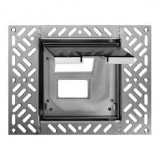Bodendose Feller für 3×FLF 130×130mm bündig mit Klappdeckel Chromstahl geschliffen anthrazit
