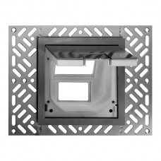 Bodendose Feller für 3×FLF 154×154mm aufliegend Klappdeckel Chromstahl geschliffen natur