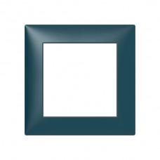 Abdeckrahmen Sidus 1x1 atlantikblau 88x88mm Kunststoff Metallic