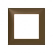 Abdeckrahmen Sidus 1x1 titan 88x88mm Kunststoff Metallic