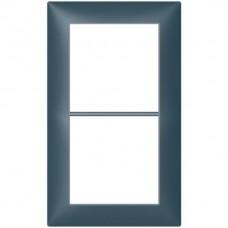 Abdeckrahmen Sidus 2x1/1x2 KS 148x88mm atlantikblau metallic