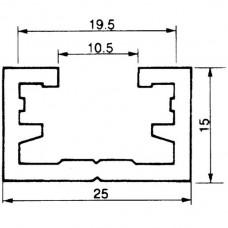 Befestigungsschiene ALMA 25×15mm L=3m