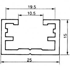 Befestigungsschiene ALMA 25×15mm L=6m