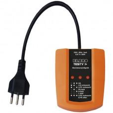 Steckdosenprüfgerät Testy 1+ für T12,13,23 CATII 300V IP40