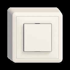 AP-Leuchtdruckschalter EDIZIOdue colore 3/1L, Seitenlinse mit LED Gelb/Weiss/Grün/Rot/Blau Kontrolllampe FX39
