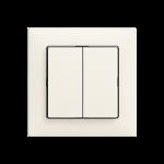 Einsatz UP-Doppel-Druckschalter Feller EDIZIOdue colore 1/3+3/1P