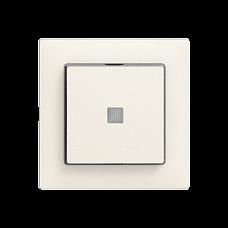 L-Druckschalter,3/1L,KS,weiss EDIZIOdue,16A,Frontl.,LED gelb