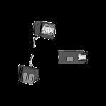 Lampenbaugruppe LED Set FH 230V  für Druckschalter/taster weiss