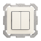 UP-Doppel-Druckschalter Feller EDIZIOdue colore 1/3+3/1P ohne Abdeckplatte