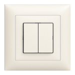 UP-Doppel-Druckschalter Feller EDIZIOdue colore 1/3+3/1P