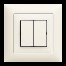 UP-Doppel-Drucktaster Feller EDIZIOdue colore 2xA-R/1P