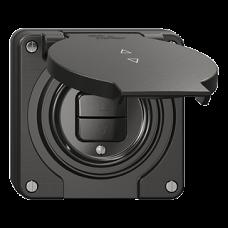 NUP-Storentaster Feller NEVO 1-Kanal 87x87 mm schwarz