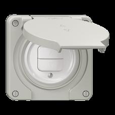 Storentaster Einsatz Feller NEVO 1-Kanal 87x87 mm lichtgrau für Kombination