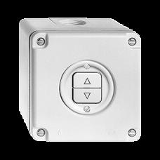 AP-Feucht-Storenschalter,l-grau Feller,NAPU,10A,2 Drucktasten