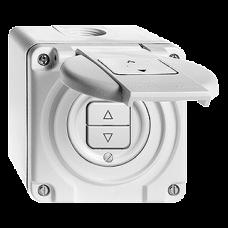 AP-Nass-Storenschalter,schwarz Feller,NAP,10A,2 Drucktasten