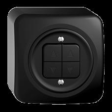 AP-Storenschalter SDUE schwarz 2-Kanäle