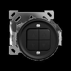 AP-Storenschalter SDUE schwarz 2-Kanäle,ohne Kappe