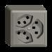 Dreifach-Steckdose Typ 23 EDIZIOdue colore Steckklemmen