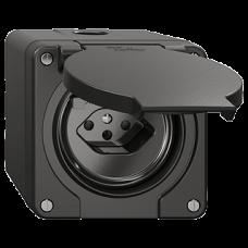 NAP-FI-Steckdose Feller NEVO T13 mit Anschlussklemmen schwarz