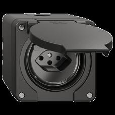 NAP-FI-Steckdose Feller NEVO T13 mit Kinderschutz mit Anschlussklemmen schwarz