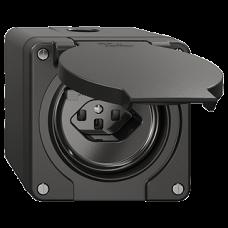 NAP-FI-Steckdose Feller NEVO T23 mit Anschlussklemmen schwarz