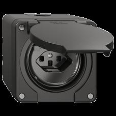 NAP-FI-Steckdose Feller NEVO T23 mit Kinderschutz mit Anschlussklemmen schwarz