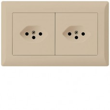 UP-Kombination KLI Gr.I-I, horizontal, 2×Typ 13 beige