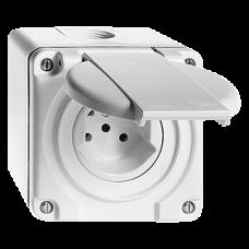 Einfach-Steckdose AP Nass T15 Feller Kunststoff