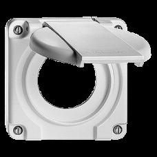Deckel mit Klappdeckel für Einfachsteckdosen Typ 13/15/23/25 Bohrung 43 mm