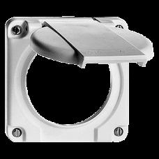 Deckel mit Klappdeckel für Mehrfachsteckdosen Typ 13/15/23/25 Bohrung 58 mm