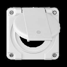 Deckel mit Klappdeckel für Einfachsteckdosen beleuchtete Steckdose 1x Typ 13