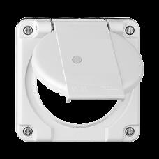 Deckel mit Klappdeckel für Mehrfachsteckdosen beleuchtete Steckdose 2x Typ 13