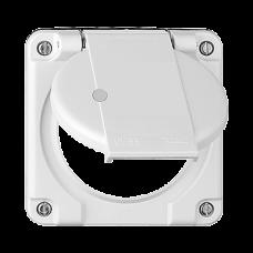 Deckel mit Klappdeckel für Mehrfachsteckdosen beleuchtete Steckdose 3x Typ 13