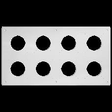 UP-Kopfzeile FH NUP 2x4 inkl. Kombinationsplatte