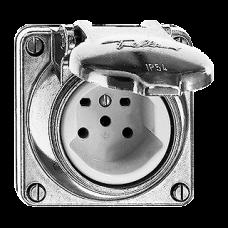 Einsatz Nass Robust Alu-Guss Einfach-Steckdose Typ 15 GUP