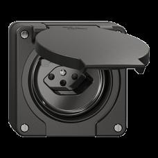 NUP-FI-Steckdose Feller NEVO T13 mit Anschlussklemmen schwarz