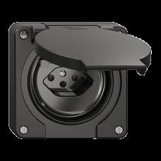 FI-Steckdose Einsatz Feller NEVO T13 mit Anschlussklemmen schwarz für Kombination
