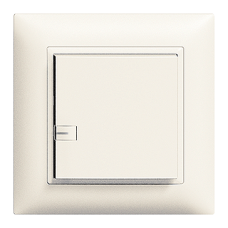 UP-Taster 1K/1T ON-OFF mit LED Hauptstelle zeptrion EDIZIOdue 1fach-Bedienung