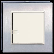 Tisch-/Wandsender IR EDIZIOdue 1-2 Geräte Chromstahl geschliffen