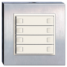 Tisch-/Wandsender IR EDIZIOdue 2-8 Geräte Chromstahl geschliffen