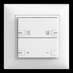 Abdeckset EDIZIOdue zeptrionAIR Dimmer S1/S2 mit LED