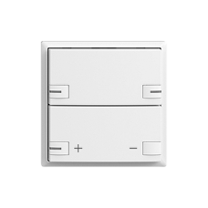 Abdeckset EDIZIOdue zeptrionAIR Dimmer ohne Bezeichnung mit LED Typ F